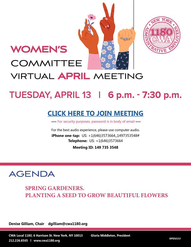 Women's Committee Virtual Meeting_April 2021